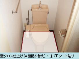 壁クロス仕上げ(4面貼り替え)・床CFシート貼り